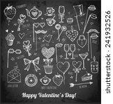 set of hand drawn valentine's... | Shutterstock .eps vector #241932526