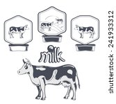 set of cow labels | Shutterstock .eps vector #241933312