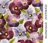 seamless floral pattern with... | Shutterstock . vector #241936432
