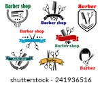 barber shop emblems and labels... | Shutterstock .eps vector #241936516