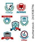 education heraldic logo ... | Shutterstock .eps vector #241938796