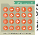 web and office icons on bright... | Shutterstock .eps vector #241939948