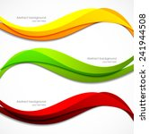 set of orange red green banners ... | Shutterstock .eps vector #241944508
