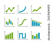color graph chart icons set.... | Shutterstock .eps vector #241969495
