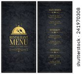 restaurant menu design. vector... | Shutterstock .eps vector #241970308
