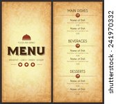 restaurant menu design. vector... | Shutterstock .eps vector #241970332