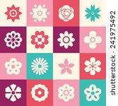 flowers icons for logo design  | Shutterstock .eps vector #241975492