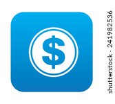 dollar icon on blue button... | Shutterstock .eps vector #241982536