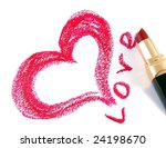 Drawn Heart And Lipstick.st...