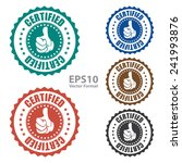 certified icon  tag  label ... | Shutterstock .eps vector #241993876