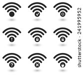 creative wifi icons set. eps10... | Shutterstock .eps vector #241995952