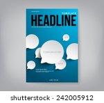 modern abstract brochure  flyer ...   Shutterstock .eps vector #242005912