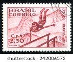 brazil   circa 1957  stamp... | Shutterstock . vector #242006572