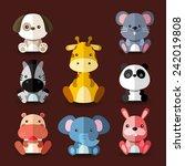 Stock vector set of animal vectors ii 242019808