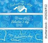 valentine's day flyer template... | Shutterstock .eps vector #242026912