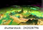 alien planet   3d rendered... | Shutterstock . vector #242028796