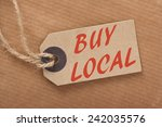 advice to buy local printed on...   Shutterstock . vector #242035576