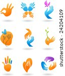 collection of hands icons | Shutterstock .eps vector #24204109