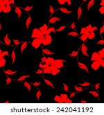 vector floral seamless pattern... | Shutterstock .eps vector #242041192