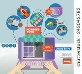 concept illustration banner... | Shutterstock .eps vector #242042782