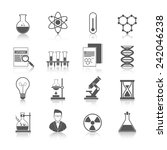 chemistry icons black set with... | Shutterstock .eps vector #242046238