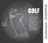 golf background design. hand...   Shutterstock .eps vector #242046916