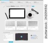 Modern Clean Website Template Eps 10 Vector