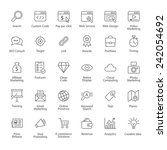seo icons | Shutterstock .eps vector #242054692
