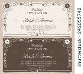 set of wedding invitation cards ... | Shutterstock .eps vector #242055742