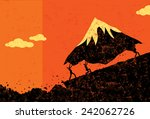 moving mountains | Shutterstock .eps vector #242062726