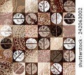 seamless background pattern.... | Shutterstock .eps vector #242063002