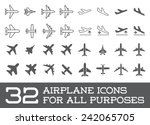 aircraft or airplane icons set... | Shutterstock .eps vector #242065705