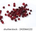tasty cranberry berries over... | Shutterstock . vector #242066122