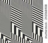 striped geometric ornament.... | Shutterstock . vector #242068408
