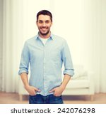happiness and people concept  ... | Shutterstock . vector #242076298