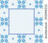 vector knitted background.... | Shutterstock .eps vector #242096212