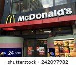 tokyo   jan 07   mcdonald' s... | Shutterstock . vector #242097982