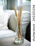 scent sticks aromatic in jar on ... | Shutterstock . vector #242101246