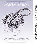 flying dragon. tattoo. vector. | Shutterstock .eps vector #242114902
