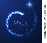 magic lights vector background. ... | Shutterstock .eps vector #242121736