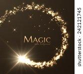magic lights vector background. ... | Shutterstock .eps vector #242121745