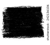charcoal texture square banner. ... | Shutterstock .eps vector #242136106