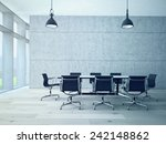 conference room interior with a ... | Shutterstock . vector #242148862