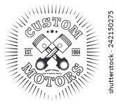 custom motors. t shirt graphics.... | Shutterstock .eps vector #242150275