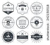 set of vintage style elements... | Shutterstock .eps vector #242150518