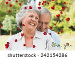 happy mature couple laughing...   Shutterstock . vector #242154286