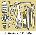 hand drawn stationery... | Shutterstock .eps vector #24216874