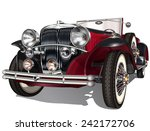 vintage car | Shutterstock .eps vector #242172706