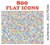set of 800 flat icons  for web  ... | Shutterstock .eps vector #242174266