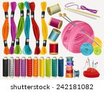 sewing accessories | Shutterstock .eps vector #242181082